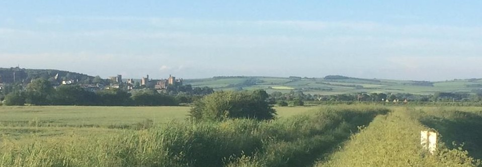iconic view of Arundel's castle and downs.